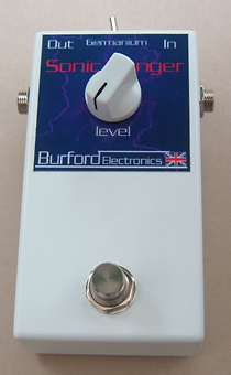 treble booster - booster pedal by Burford Electronics, designed by Alan Exley