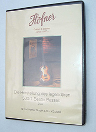Hofner guitar parts - Hofner - DVD The Making of the Hofner Violin Bass