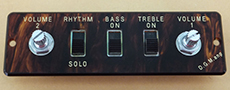 Hofner guitar parts - tortoiseshell control panel