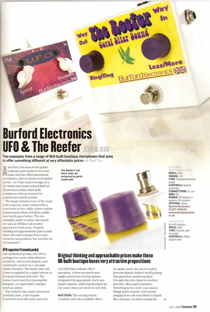 Review of Burford Electronics Reefer boutique pedal